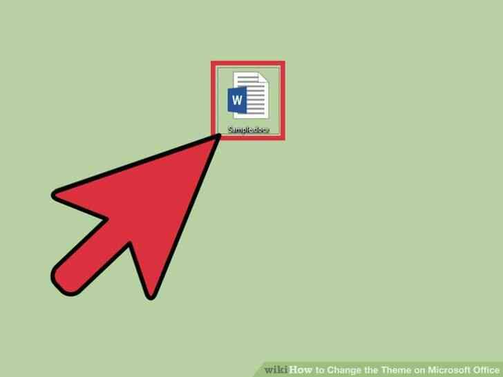 Imagen titulada Cambiar el Tema en Microsoft Office Paso 1