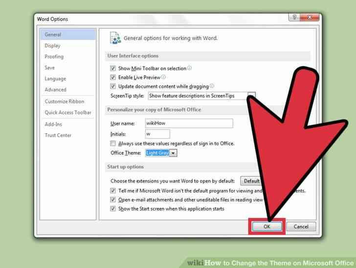 Imagen titulada Cambiar el Tema en Microsoft Office Paso 6