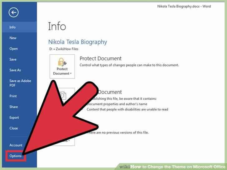 Imagen titulada Cambiar el Tema en Microsoft Office Paso 3