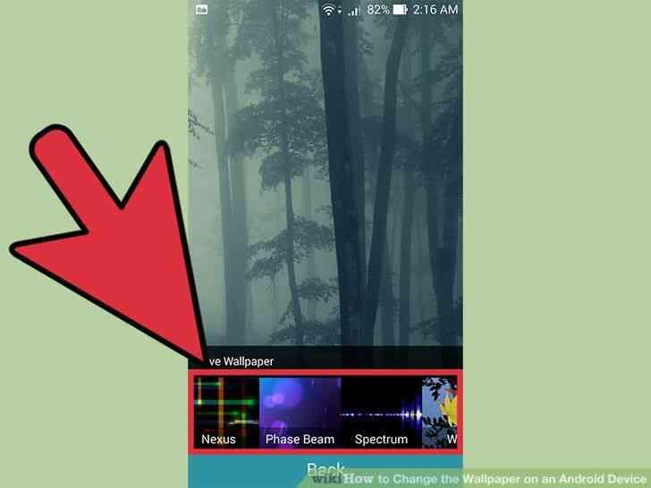 Imagen titulada Cambiar el fondo de pantalla de un Dispositivo Android Paso 4