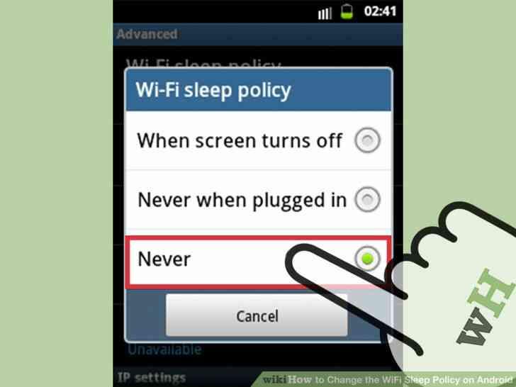 Imagen titulada Cambiar el WiFi Sueño Política en Android Paso 6