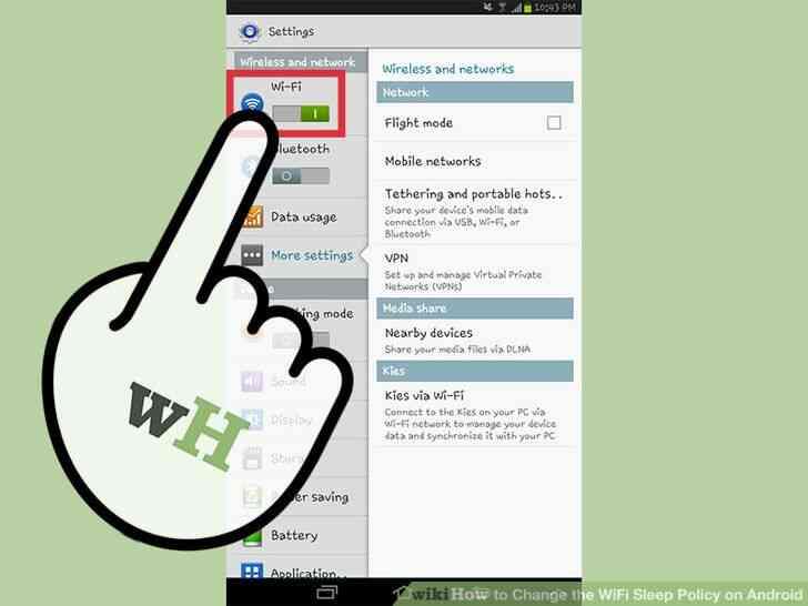 Imagen titulada Cambiar el WiFi Sueño Política en Android Paso 9