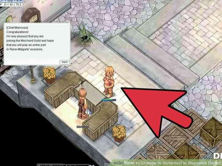 Imagen titulada Cambio de Alquimista en Ragnarok Online Paso 8