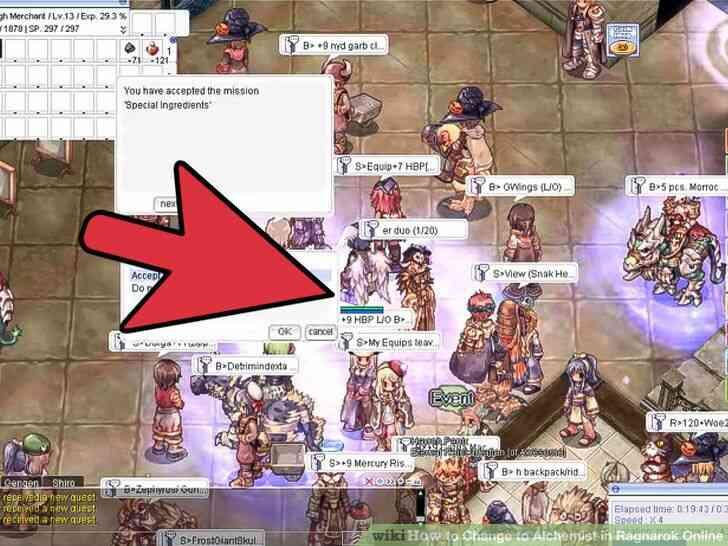 Imagen titulada Cambio de Alquimista en Ragnarok Online Paso 11