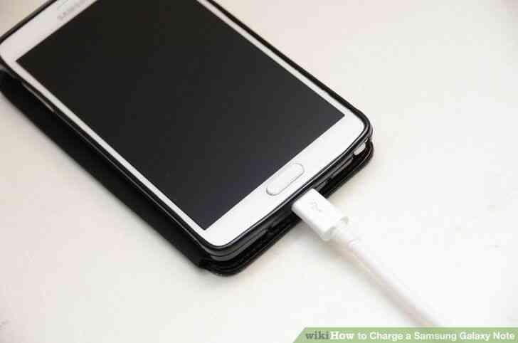 Imagen titulada Cargo de un Samsung Galaxy Note el Paso 2