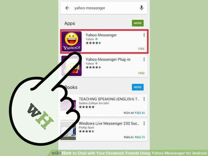 Image titulado Chat con Tu Facebook tus Amigos a través de Yahoo Messenger para Android Paso 1