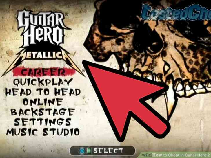 Imagen titulada Trucos en Guitar Hero 2 Paso 1