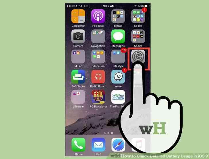 Imagen titulada Verificación Detallada de Uso de la Batería en iOS 9 Paso 1