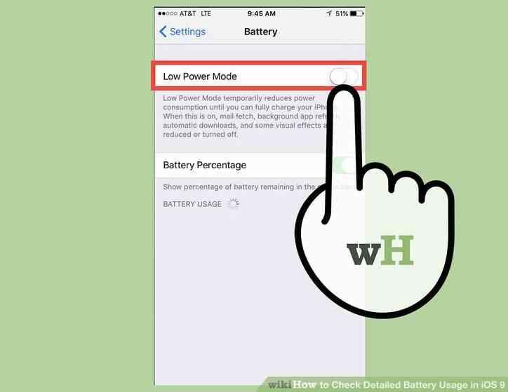 Imagen titulada Verificación Detallada de Uso de la Batería en iOS 9 Paso 2