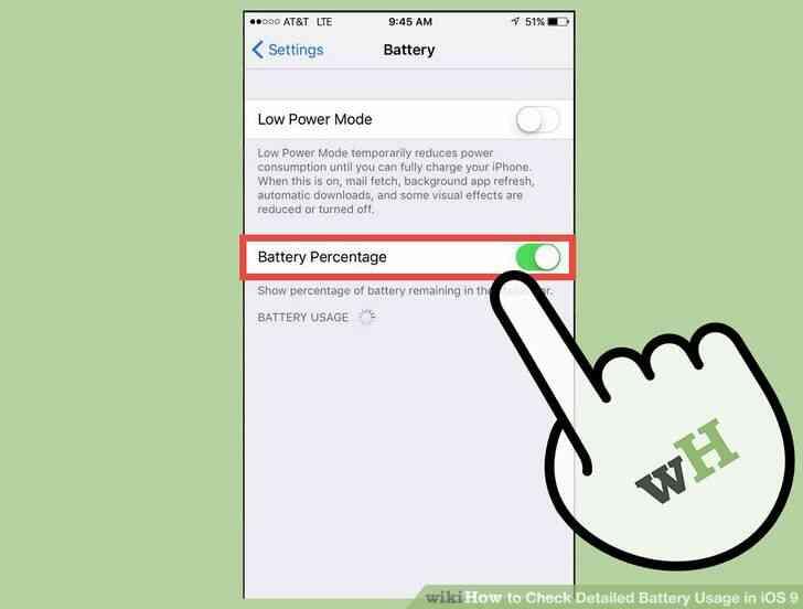 Imagen titulada Verificación Detallada de Uso de la Batería en iOS 9 Paso 3