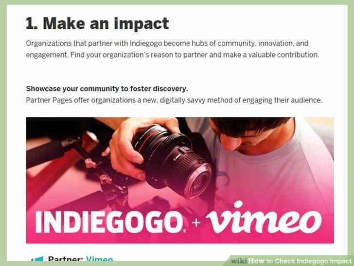Imagen titulada Comprobar Indiegogo Impacto Paso 4