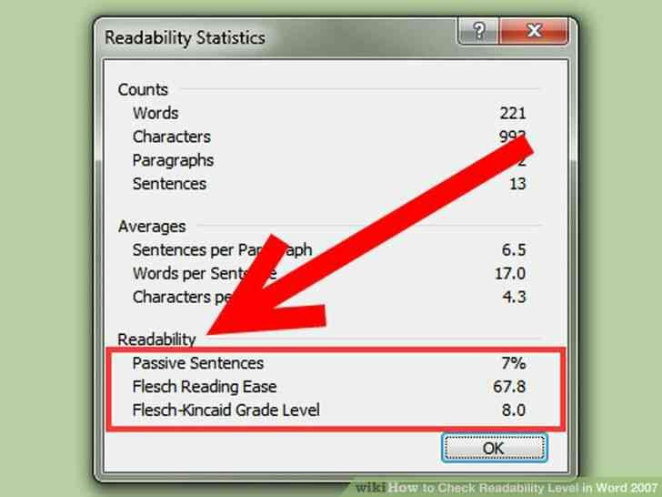 Imagen titulada Comprobar el Nivel de Legibilidad en Word 2007 Step 7