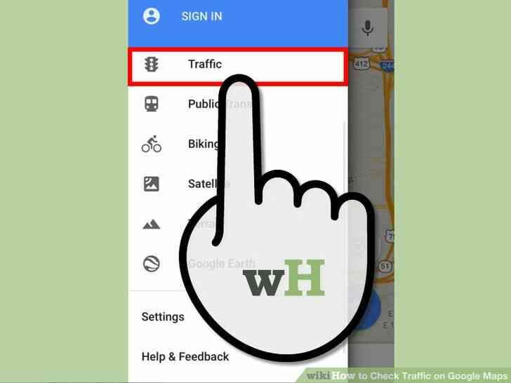 Imagen titulada Comprobar el estado del Tráfico en Google Maps Paso 7