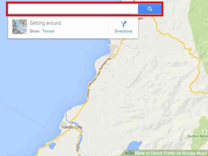 Imagen titulada Comprobar el estado del Tráfico en Google Maps Paso 2