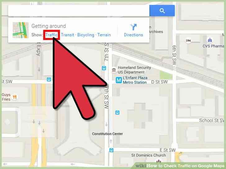 Imagen titulada Comprobar el estado del Tráfico en Google Maps Paso 3