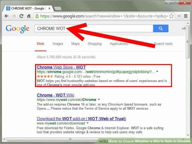 Imagen titulada Comprobar Si un Sitio Es Seguro en Chrome Paso 1