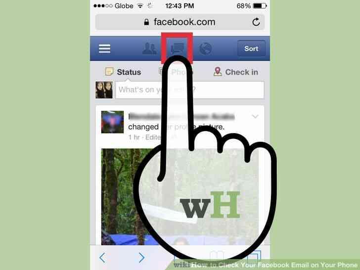 Imagen titulada Comprobar Su Facebook Correo electrónico en el Teléfono Paso 4
