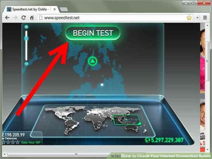Imagen titulada Comprobar Su Velocidad de Conexión a Internet Paso 3