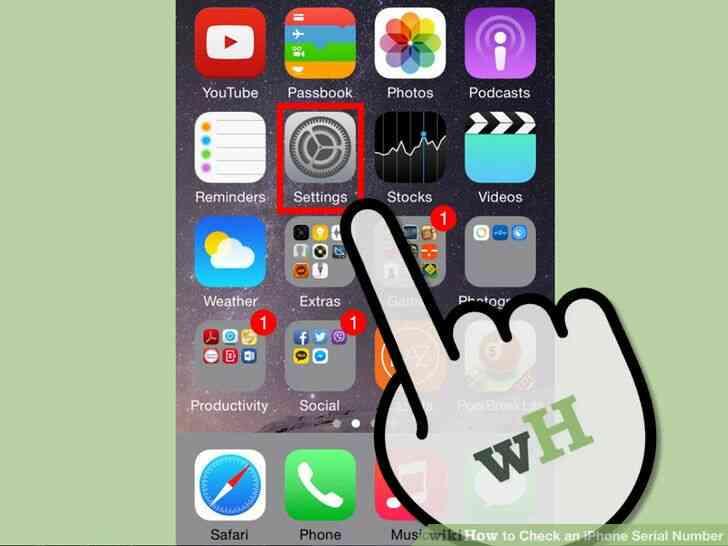 Imagen titulada Echa un iPhone de Serie Número de Paso de 1