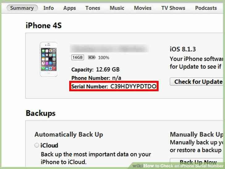 Imagen titulada Echa un iPhone con el Número de Serie del Paso 6