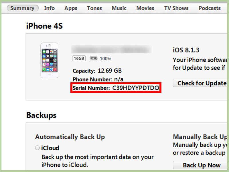 Cómo Comprobar el Número de Serie de un iPhone