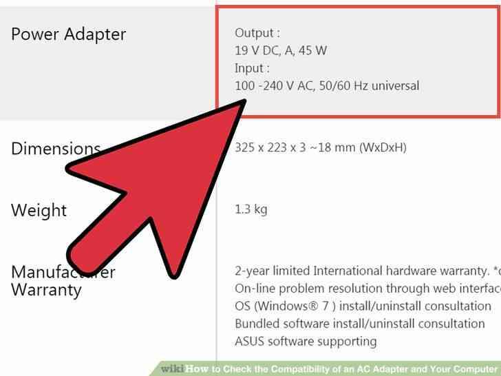 Imagen titulada Comprobar la Compatibilidad de un Adaptador de CA y a Su Ordenador Paso 3
