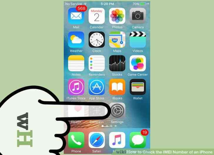 Imagen titulada Comprobar el Número de IMEI de un iPhone a un Paso de 1