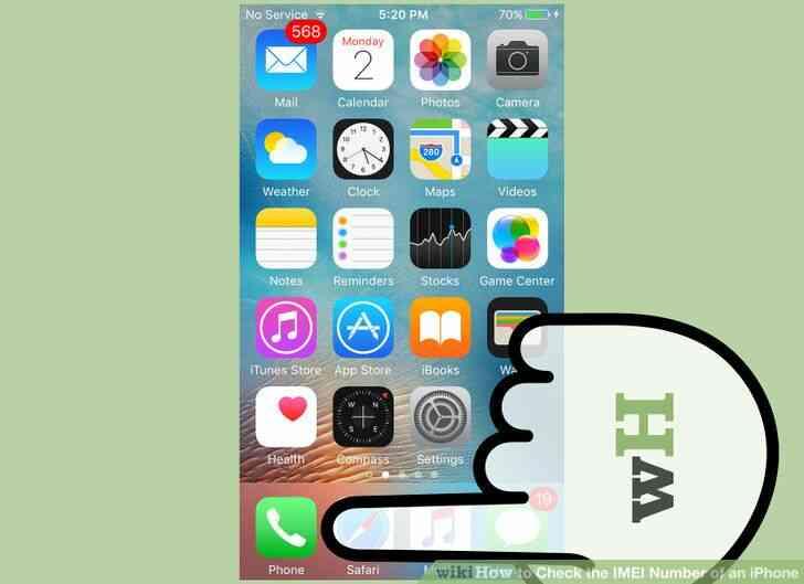 Imagen titulada Comprobar el Número de IMEI de un iPhone con el Paso 6