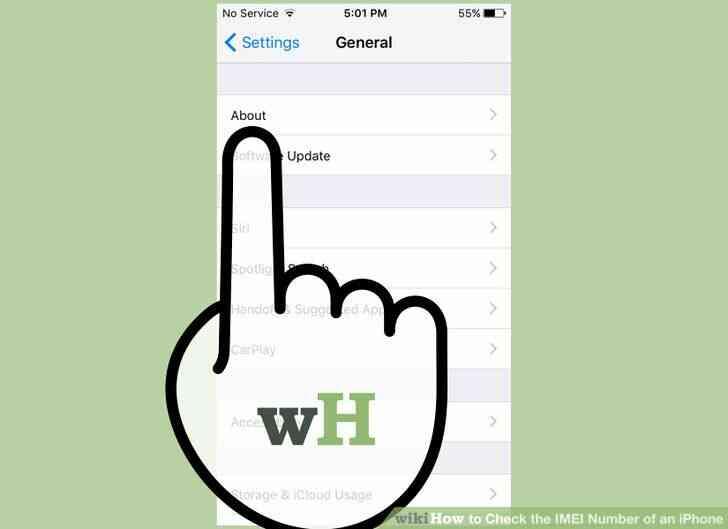 Imagen titulada Comprobar el Número de IMEI de un iPhone con el Paso 3