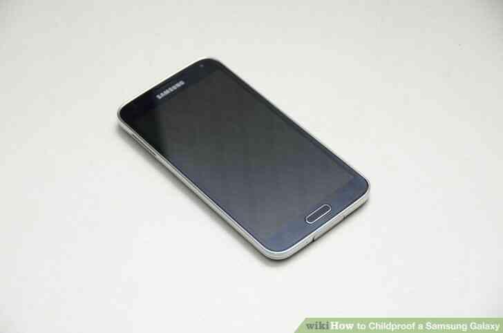 Imagen titulada a prueba de Niños en el Samsung Galaxy Paso 1