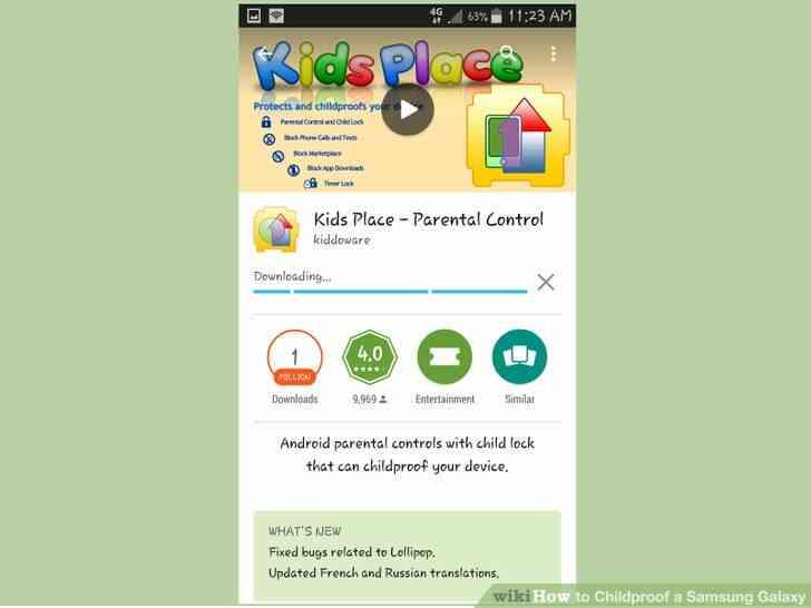 Imagen titulada a prueba de Niños en el Samsung Galaxy Paso 16