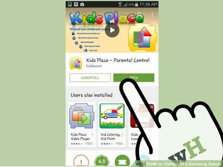 Imagen titulada a prueba de Niños en el Samsung Galaxy Paso 17