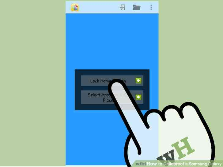 Imagen titulada a prueba de Niños en el Samsung Galaxy Paso 20
