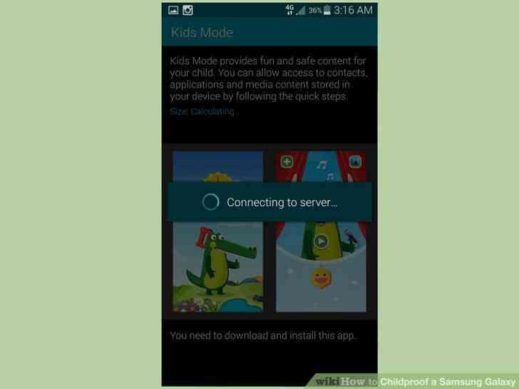 Imagen titulada a prueba de Niños en el Samsung Galaxy Paso 3