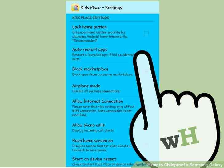 Imagen titulada a prueba de Niños en el Samsung Galaxy Paso 21