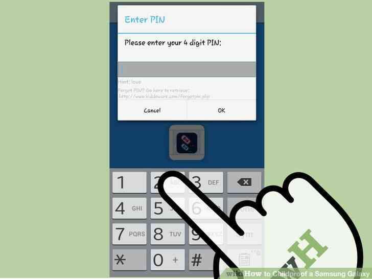 Imagen titulada a prueba de Niños en el Samsung Galaxy Paso 24