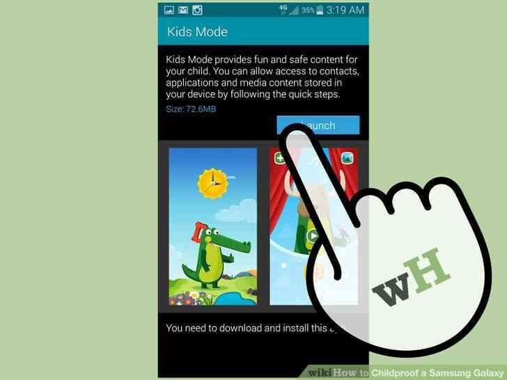 Imagen titulada a prueba de Niños en el Samsung Galaxy Paso 5