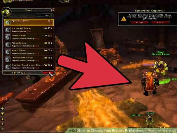 Imagen titulada Elegir Su Principal Profesiones en el Mundo de Warcraft Paso 11