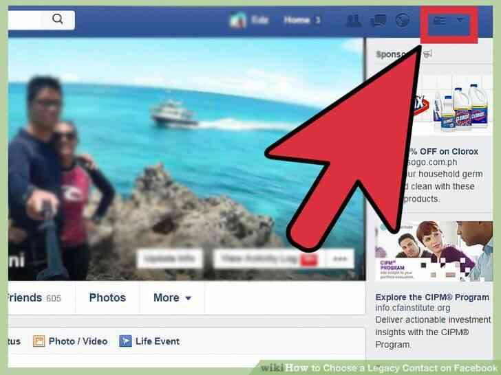 Imagen titulada Elegir un Legado de Contacto en Facebook Paso 3