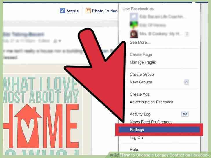 Imagen titulada Elegir un Legado de Contacto en Facebook Paso 4