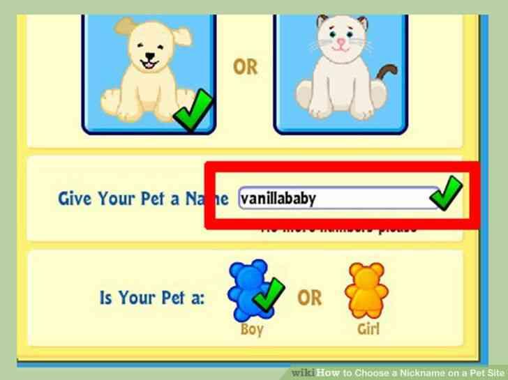 Imagen titulada Elegir un Apodo en una Mascota Sitio de Paso de 1
