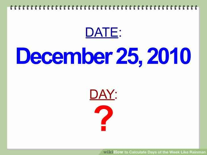 Imagen titulada Calcular los Días de la Semana Como Rainman Paso 9