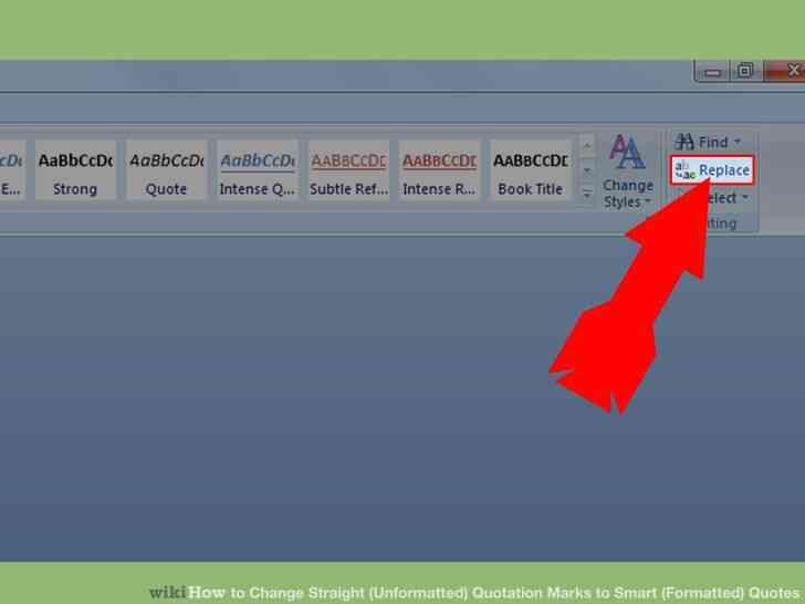 Imagen titulada Cambiar Rectas (sin Formato) Comillas para Smart (Formateado) Cita que en el Paso 2