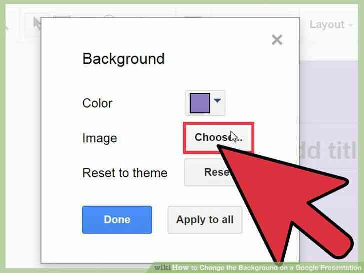 Imagen titulada Cambiar el Fondo de una Presentación de Google Paso 15