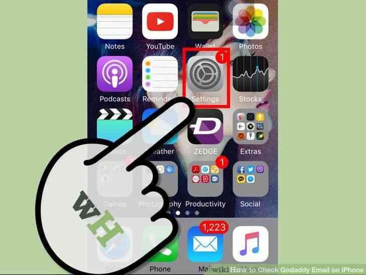 Imagen titulada de Verificación de Correo electrónico de Godaddy en el iPhone Paso 1