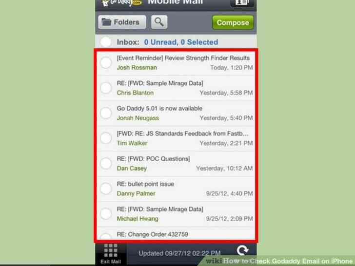 Imagen titulada de Verificación de Correo electrónico de Godaddy en el iPhone Paso 17
