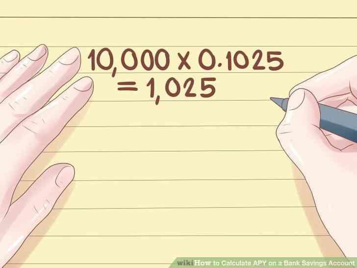 Imagen titulada Calcular el porcentaje anual de rendimiento sobre una Cuenta de Ahorros Bancaria Paso 5