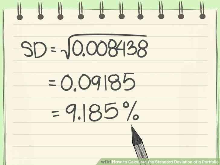 Imagen titulada Calcular la Desviación Estándar de un Portafolio Paso 5