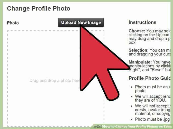 Imagen titulada Cambiar Su Foto de Perfil en Ezine Paso 5
