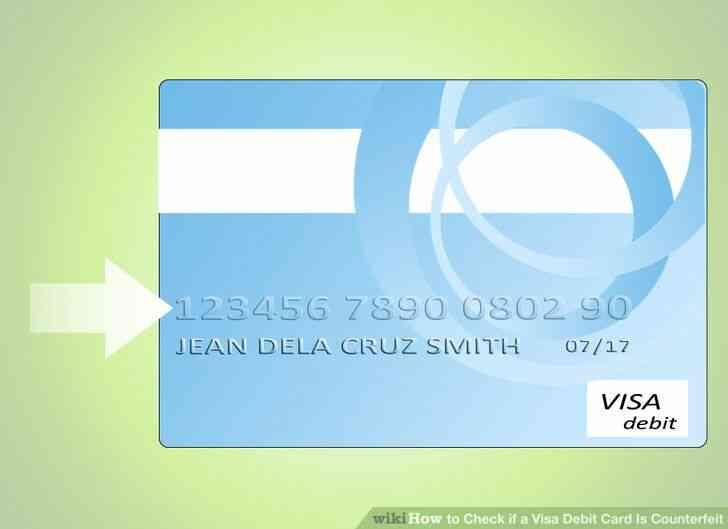 Imagen titulada Comprobar si una Tarjeta de Débito Visa Es la Falsificación de Paso de 1